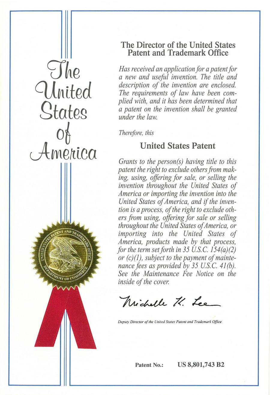 DHI was granted a US Patent